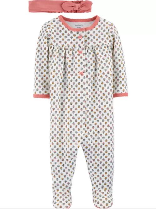 Set de 2 Piezas Pijama y Vincha