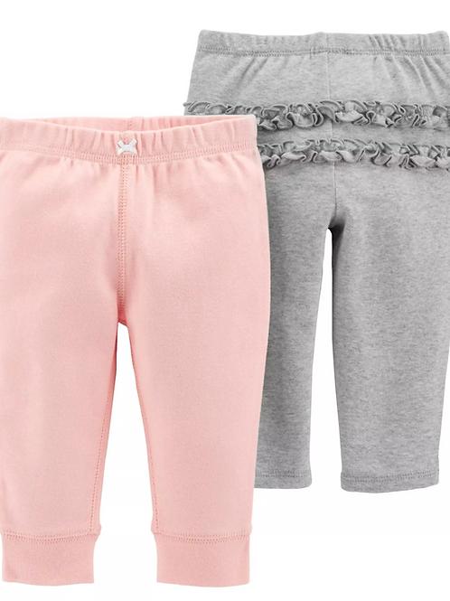 Set de 2 Pantalones Lisos Niña