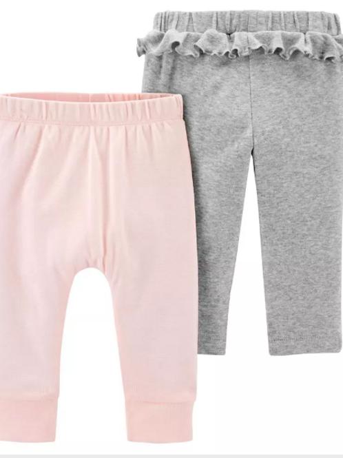 Set de 2 pantalones Niña Gris / Rosado