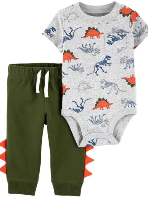 Set de 2 Piezas Pantalon Dinosaurio