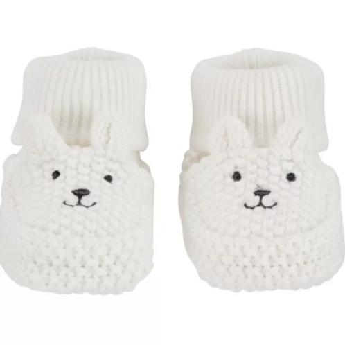 Botitas Crochet Blanco Osito