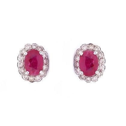 Precious Ruby Diamonds Stud Earrings