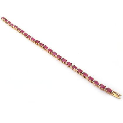 Rubies Diamonds Tennis Bracelet