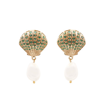 Emerald American Diamonds Earrings
