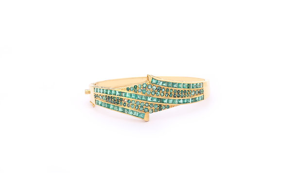 Emeralds Bangle