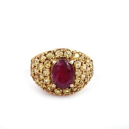 Ruby Yellow Sapphire Ring