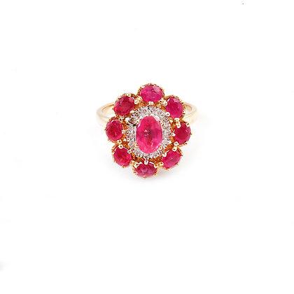 Ruby Diamond Designer Ring