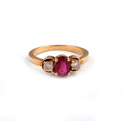 Ruby Diamond Handmade Designer Ring