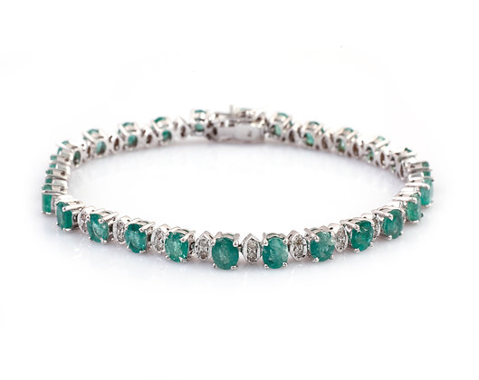 Natural Emerald Diamond Bracelet