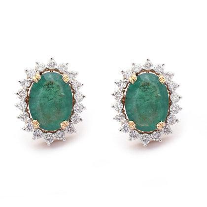 Emerald Diamonds Stud Earrings