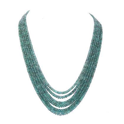 Precious Emerald Beads Necklace
