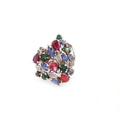 Natural Multi Stone Designer Ring