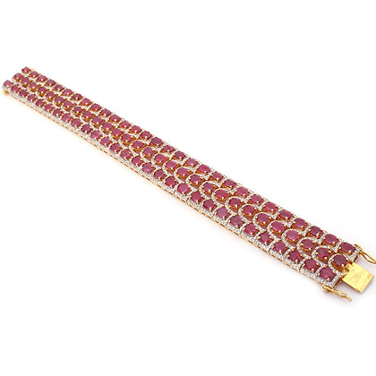 Rubies Diamonds Bracelet