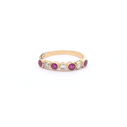 Stackable Ruby Diamonds Ring