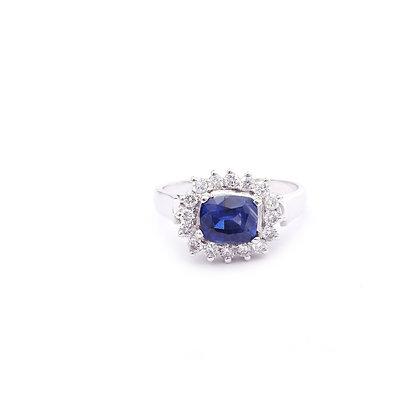 Serene Sapphire Diamonds Ring