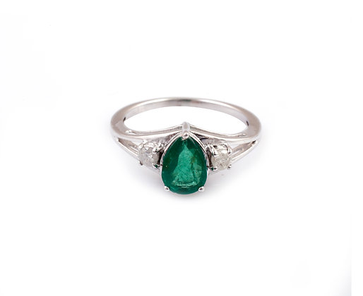 Emerald Diamond Designer Ring