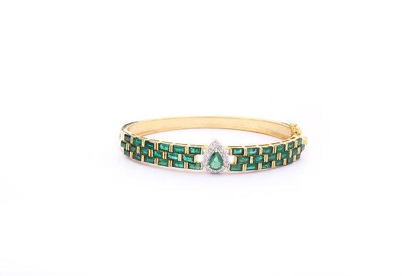 Precious Emeralds Diamonds Bangle