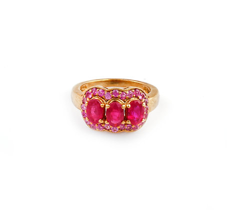 Ruby Pink Sapphire Ring