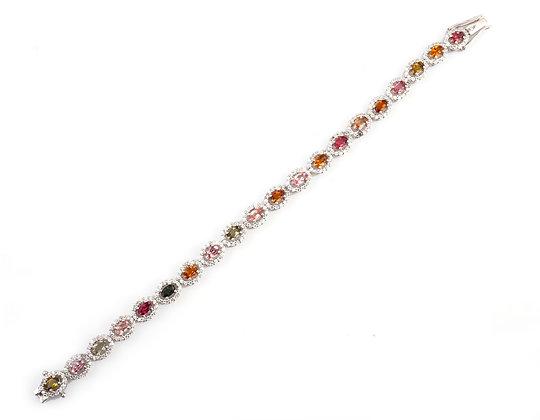 Multi Tourmaline Designer Bracelet
