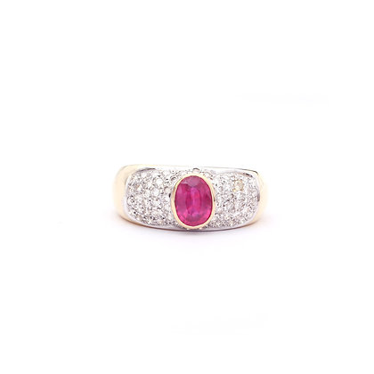 Precious Ruby Diamonds Ring