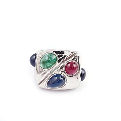 Ruby Sapphire Emerald Ring