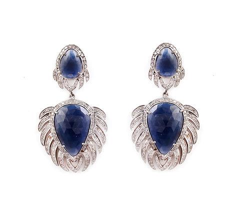Blue Sapphire Diamonds Earrings