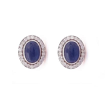 Beautiful Sapphire Diamonds Stud Earrings