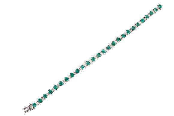 Natural Emerald Diamond Bracelet