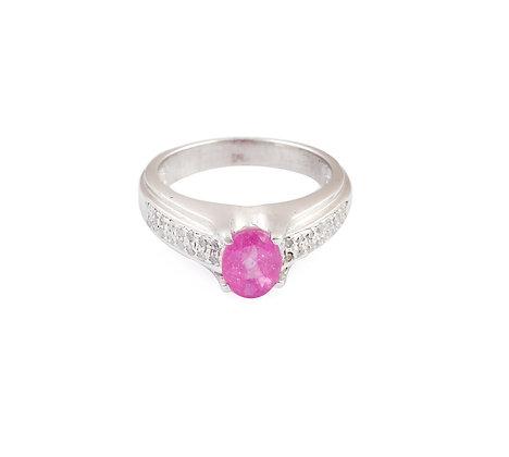 Pink Sapphire Diamond Minimalist Ring