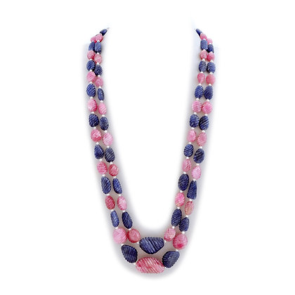 Beautiful Sapphire Carved Necklace