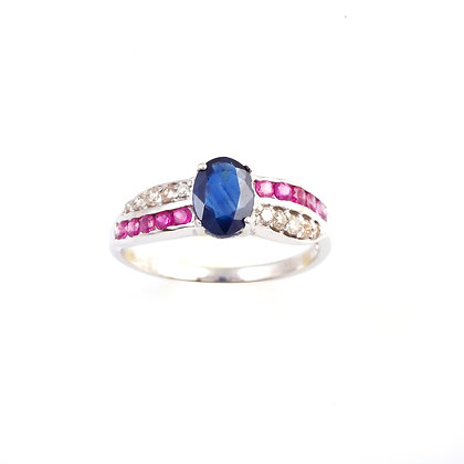 Sapphire Ruby Diamonds Ring