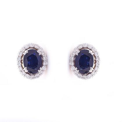 *Precious Sapphire Diamonds Stud Earrings