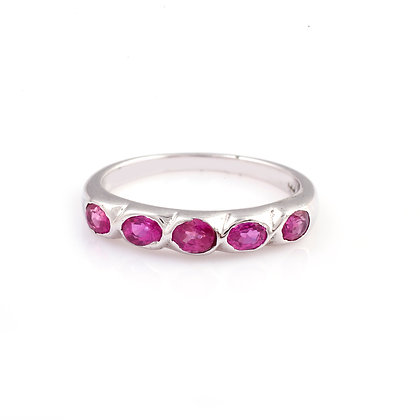 Natural Pink Ruby Ring