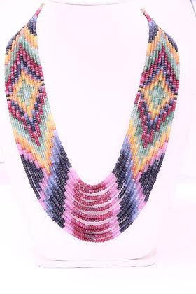 Precious Multi Sapphire Necklace