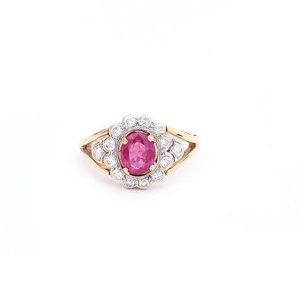 Rubies Diamonds Ring
