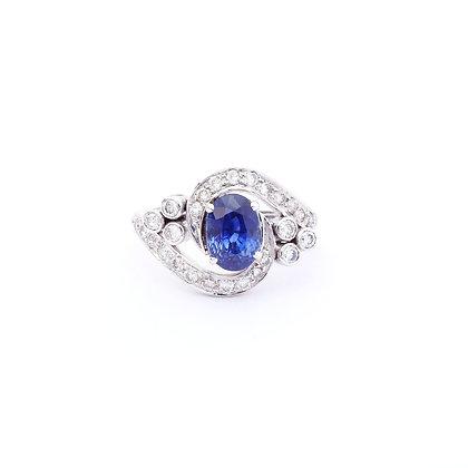 Sapphire Diamonds Ring