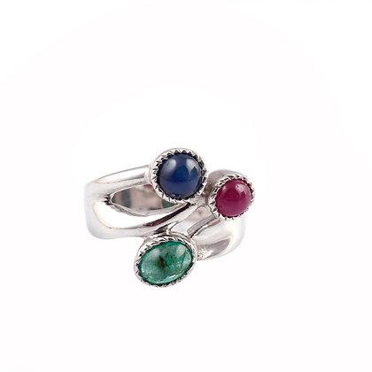 Ruby Sapphire Emerald Ring