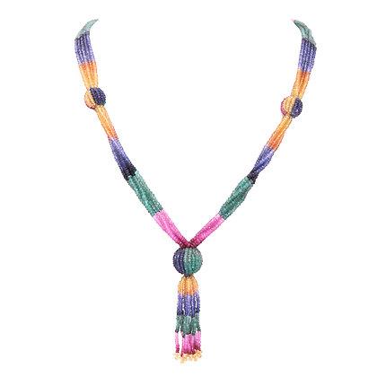 Multi Sapphire Precious Necklace
