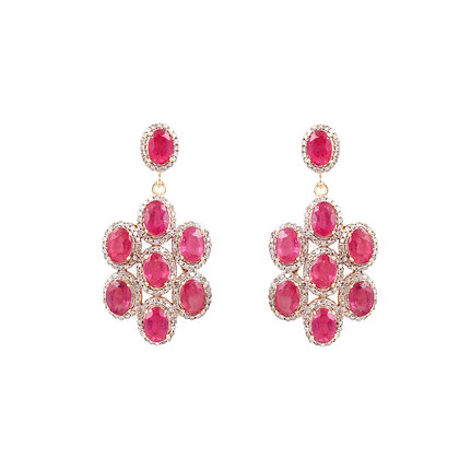 Ruby Diamonds Earrings
