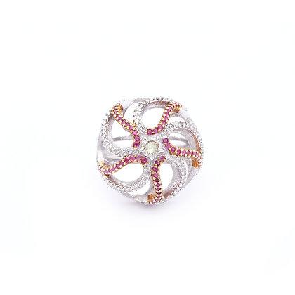 Ripple Rubies Diamonds Ring