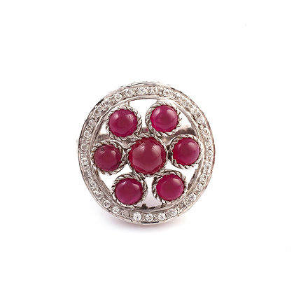Ruby Diamond Designer Ring