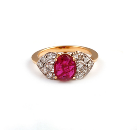 Ruby Diamond Designer Handmade Ring