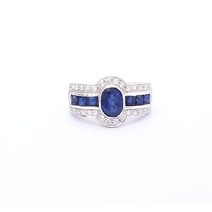 Art Deco Sapphire Diamonds Ring
