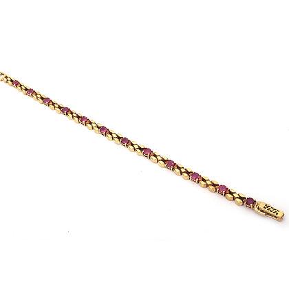 Designer Ruby Tennis Bracelet