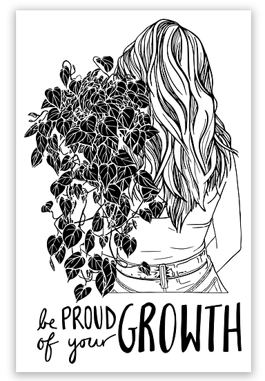 Be Proud of Your Growth Sticker