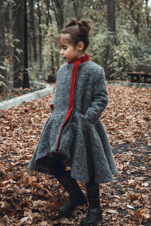 Paltonas din stofa pentru fetite Petite Parisienne