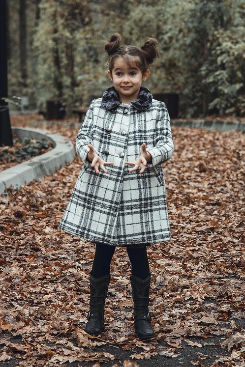 Paltonas din stofa pentru fetite Après Midi