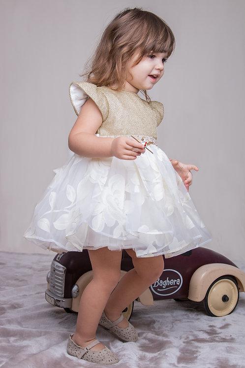 rochita aurie cu organza