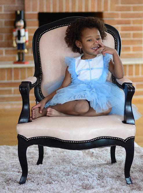 Rochie fetite din dantela si tulle Charming in Blue