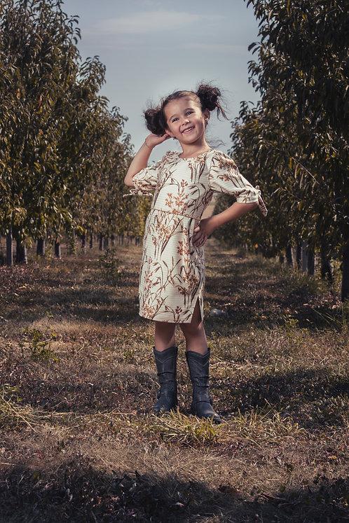 Rochie fetite din stofa fina Autumn Beauty